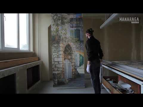 3D фотообои «Улочка старого города»