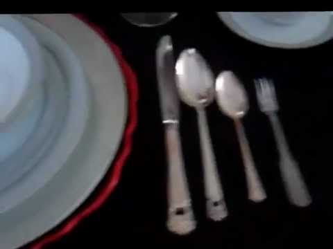 Proper use and placement of dinnerware and silverware & Proper use and placement of dinnerware and silverware - YouTube