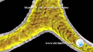Bronquitis 3D Animación