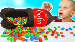 Martin and Monica Chocolate & Soda Challenge for Mom