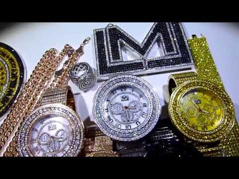 "Custom Watches by LabMadeJewelry: ""LMJ&Co"" FULLY LOADED Stainless Steel Lab Made Diamond Watches!"