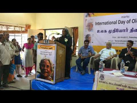 Talent of a Senior Citizen on the Observance of International Day of Older Persons