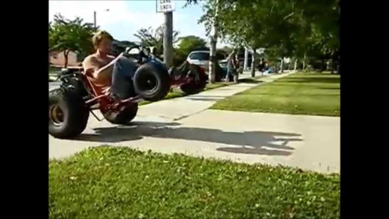 V-twin go kart wheelies