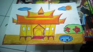 720+ Gambar Mewarnai Rumah Adat Minang HD Terbaru