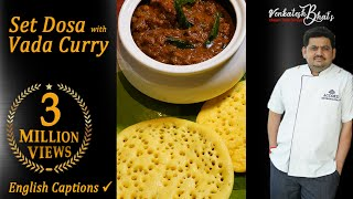venkatesh bhat makes set dosa and vadacurry | set dosa recipe | vadacurry recipe in Tamil