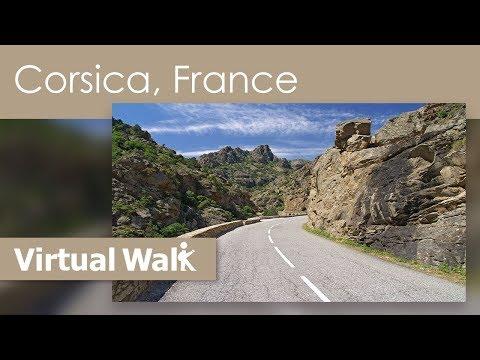 Virtual Walk Corsica, France - Tour through Amazing Landscapes