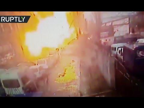Moment of Izmir blast caught on CCTV cam