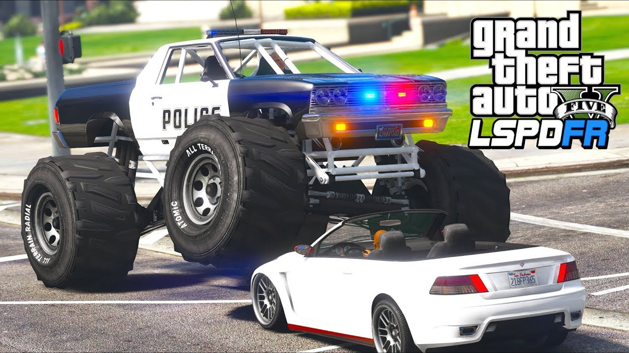 Gta 5 Lspdfr Ep500 Bad Cop In A Bad Police Monster Truck Youtube