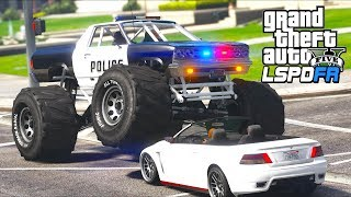 GTA 5 - LSPDFR Ep500 - Bad Cop in a Bad Police Monster Truck!!