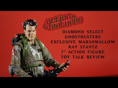 "Diamond Select Ghostbusters SDCC Marshmallow Ray Stantz Exclusive 7"" Figure Review Action Toy Talk"
