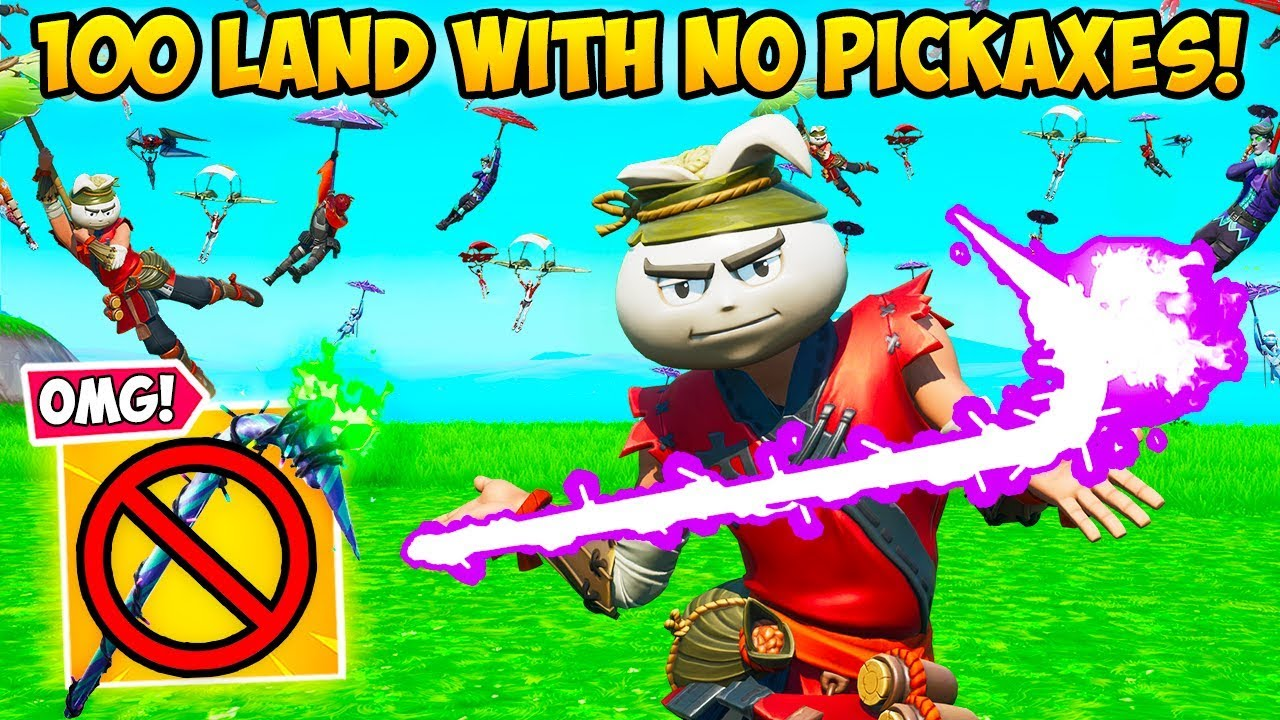 *INSANE* 100 PLAYERS LAND WITHOUT PICKAXES!! - Fortnite Funny Fails and WTF Moments! #788 thumbnail