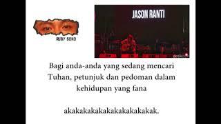 Lirik / Lyrics Jason Ranti Doa Sejuta Umat