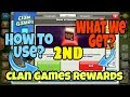 Collecting 2nd Clan Games Rewards!! ( How to Use plus Selling New  Magic Items) Clash of Clans