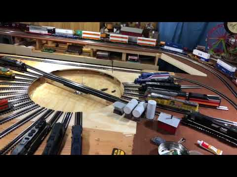 """Scratch Built O Scale 36"""" Turntable."""