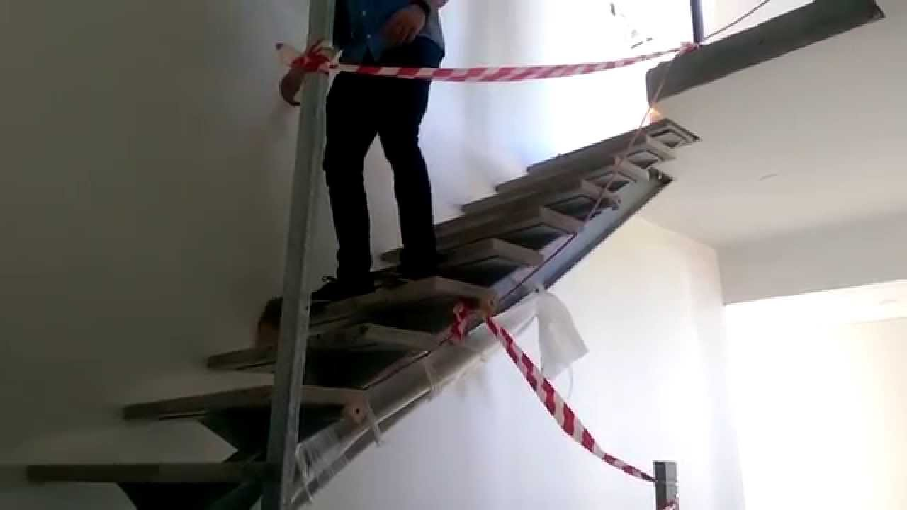 i-beam stair deflection