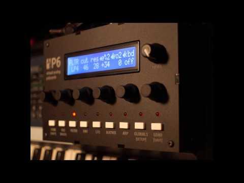 Audiothingies P6 virtual analogue synthesizer demo.