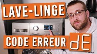 Code erreur DE, DE1, DE2 ou DS lave-linge Samsung, que faire ?