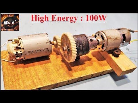 Free Energy || 5 V to 70 V DC Motor Generator Experiment