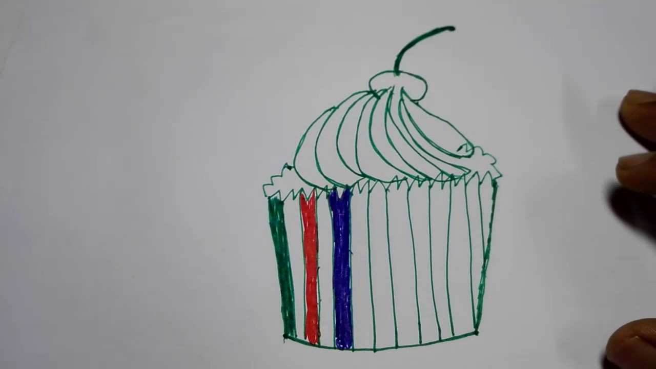 how to draw a cap cake draw a realistic cupcake draw a cupcake step