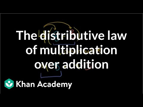 The distributive law of multiplication over addition | Pre-Algebra | Khan Academy