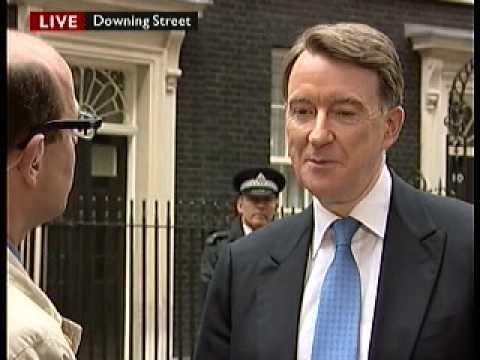 Lord Peter Mandelson Rescues Gordon Brown