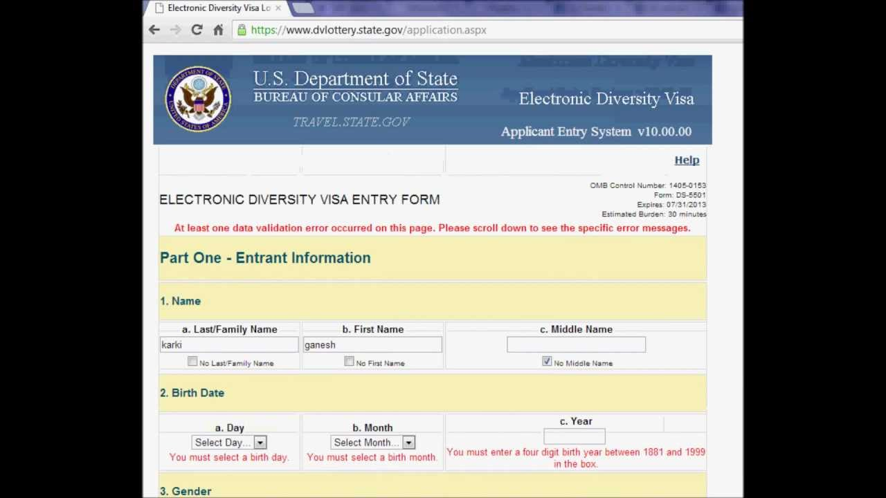 how to fill form of dv lottery how to fill form of dv lottery