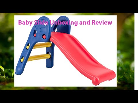 Garden Slide For Kids - Cute Foldable Beginners Slider - With Ring Hoopla