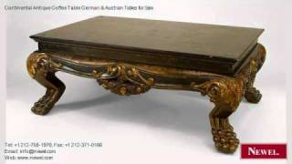 Continental Antique Coffee Table German & Austrian Tables