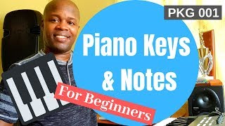 Very Easy Piano Lesson For Beginners - Piano Keys and Notes - PKG 001