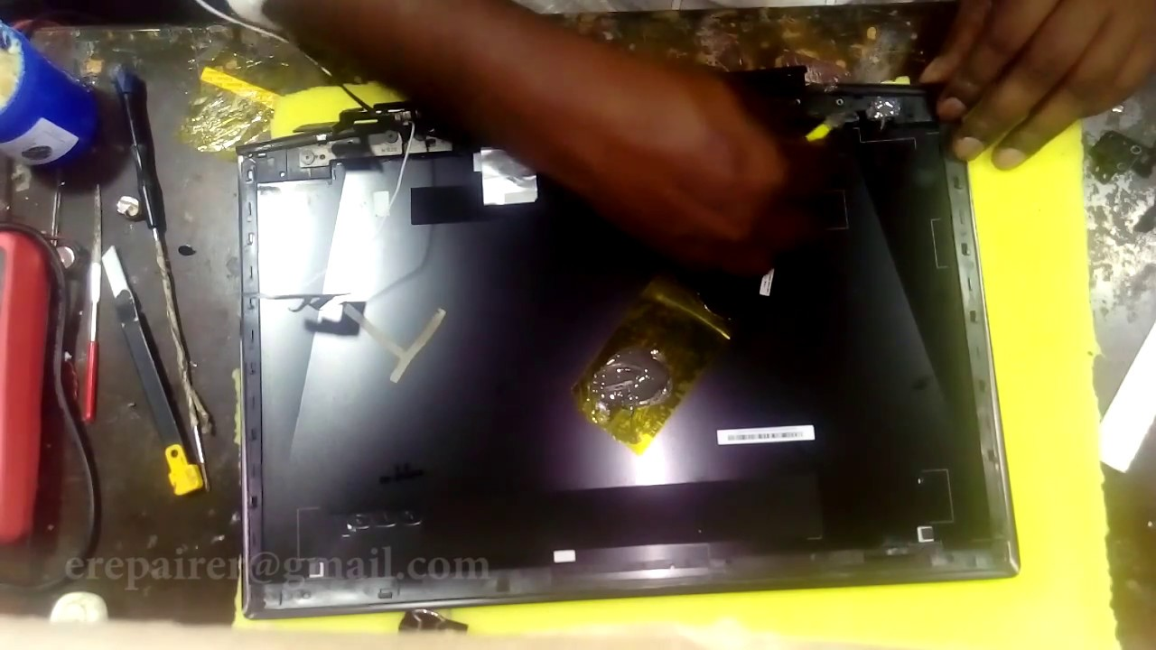 Lenovo Y50 70 - how to repair Hinghes
