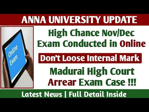 Nov Dec 2020 Exam Conducted in Online!   High Court Arrear Case! - Anna University latest news Tamil
