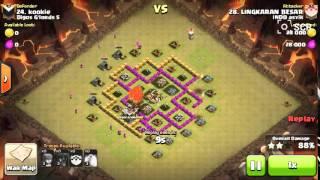 Clash of clans - strategy war TH6 balon 3 star attacker by LINGKARAN BESAR