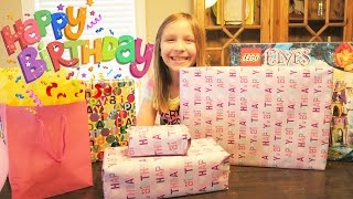 Birthday Presents!  Happy Birthday Macey!