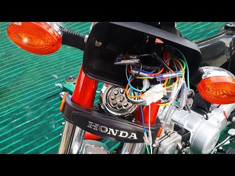 COMPLETE CD-70 HONDA MOTORCYCLE WIRING HOW TO DO IT - YouTube on
