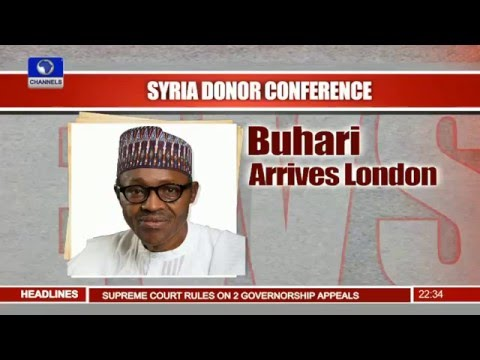 Buhari In London For Syria Donor Conference 04/02/16