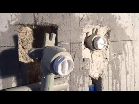 Монтаж водорозеток из полипропилена под смеситель ванны. МАСТЕР-КЛАСС