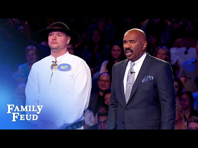 Can Matt pull off a miracle? | Family Feud