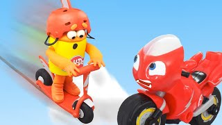 Play Doh Videos | Crazy Stunt Competition 🏍️ Ricky Zoom Play-Doh | Stop Motion | The Play-Doh Show
