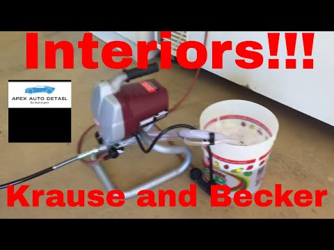 Interior Cleaning With the Krause & Becker Airless Sprayer! Stainless Steel, 3000psi, 25 ft Hose!