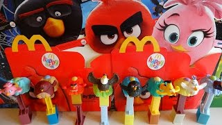 2016 Angry Birds Movie Masks & Toys Complete Set in Happy Meal McDonalds Europe Unboxing