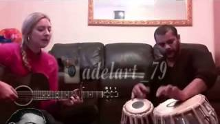 Indian drum tabla with guitar ,,, amazing song