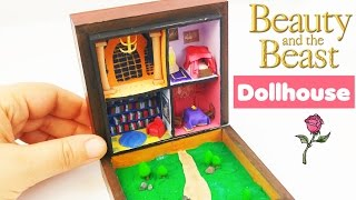 HOW TO MAKE MINIATURE DOLLHOUSE Beauty & Beast doll crafts diy tutorial