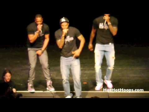 "Battioke 2014 - LeBron James, Dwyane Wade, Udonis Haslem perform Robin Thicke ""Blurred Lines"""