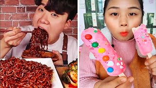 Mukbang ASMR Eating Show  #3   Eating Weird Foods, Chewy and Crunchy (EATING SOUNDS)
