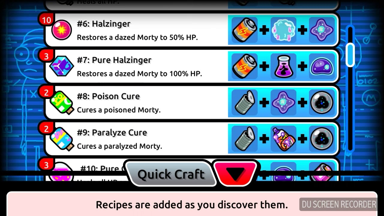 pocket morty crafting recipes for eli youtube