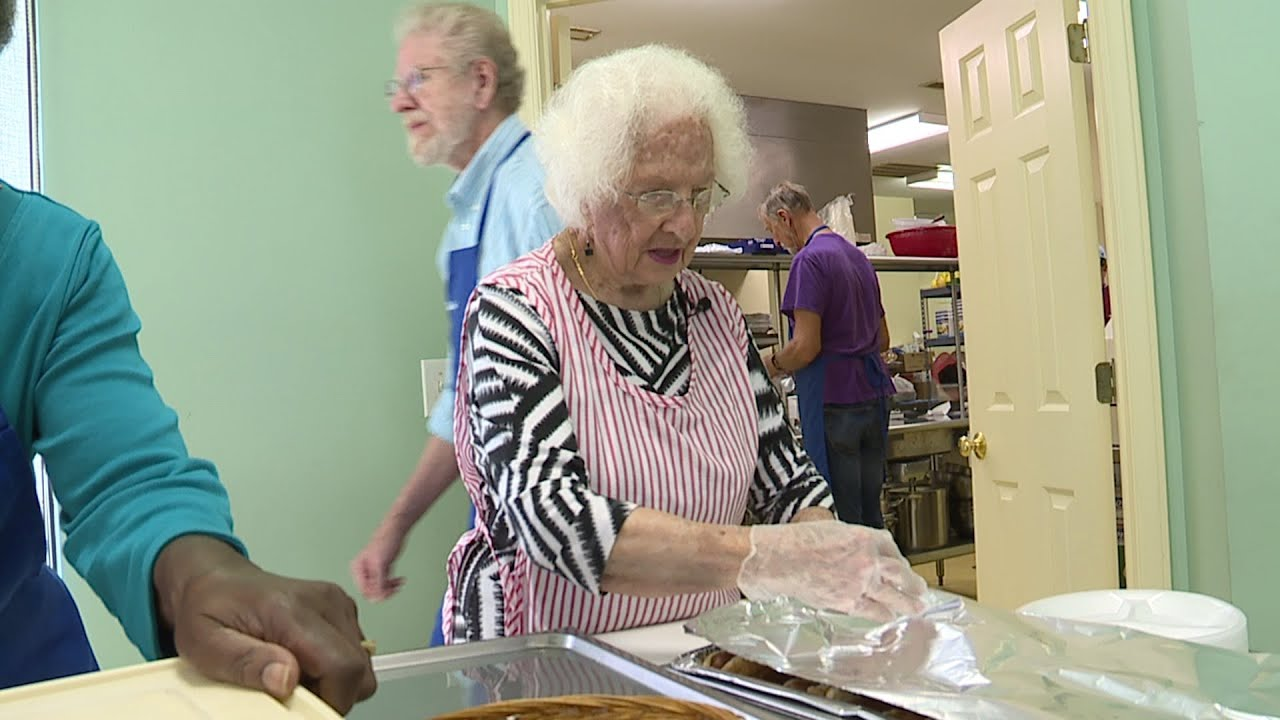 97 Year Old Still Volunteers At Our Daily Bread Soup Kitchen In Asheboro