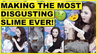 Making The Most Disgusting Slime Ever (With Haunted Doll Hair)