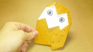 Origami Owl!How to fold of owl. And learn how to fold origami, let...