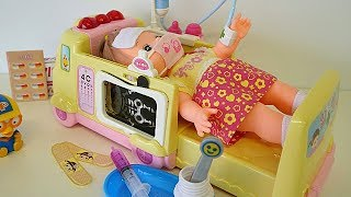 Ambulance baby doll Doctor toy video for children thumbnail