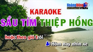 Sầu Tím Thiệp Hồng Karaoke song ca